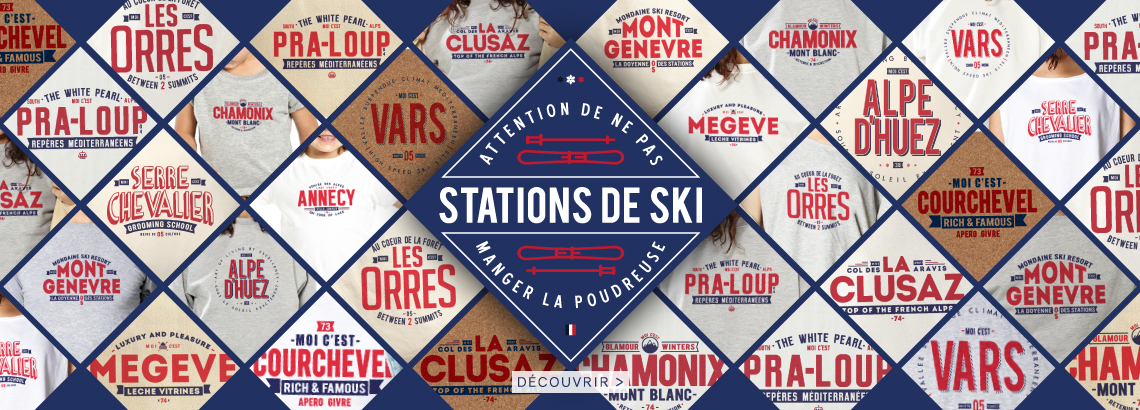 le binôme à la française stations de ski sweats t-shirts accessoires déco homme femme enfant