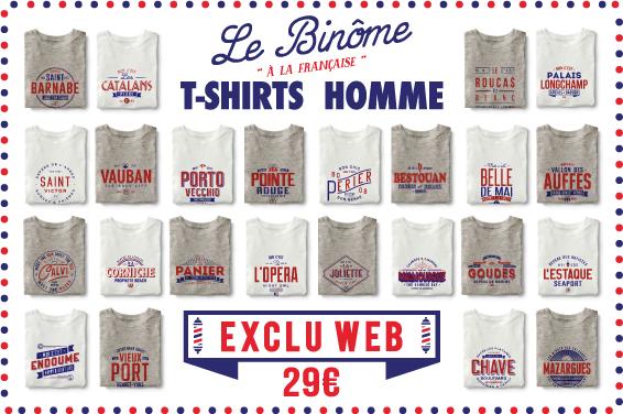 le binôme à la française quartiers marseille stations de ski exlu web t-shirt homme