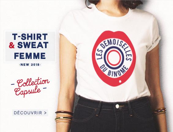 le binôme à la française t-shirt et sweat les demoiselles du binome
